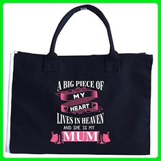 A Big Piece Of My Heart And She Is My Mum - Tote Bag - Top handle bags (*Amazon Partner-Link)