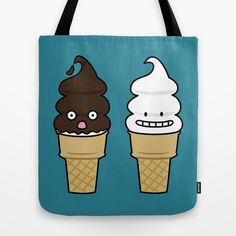 Happy Soft Serve Ice Cream Cones Tote Bag