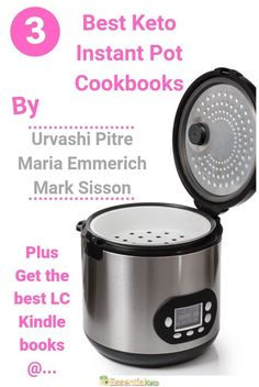 Do you want to prepare quick and healthy low carb meals? Then you'll need a good keto instant pot cookbook. These 3 are the best right now! Read more to find out why… Low Carb Indian Food, Healthy Low Carb Recipes, Keto Recipes, Diet Books, Instant Pot Pressure Cooker, Keto Diet For Beginners, Meals, Intermittent Fasting, Ketogenic Diet