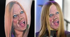We Face Swapped Tattoos To Present How Unhealthy They Actually Are, And Angelina Jolie Is Not As Attractive As We Bear in mind - Just luck life Banksy, Funny Tattoos Fails, Tattoo Fails, Funny Pictures Tumblr, Funny Pictures With Captions, Dog Quotes Funny, Funny Picture Quotes, Angelina Jolie, Selfies