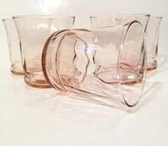 56e2c3c44d47 Pink Glass Tumblers by Libbey