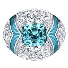 Louis Vuitton, enamelled topaz ring