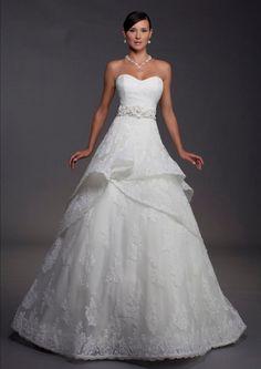 Sweetheart Chapel Train Satin Sleeveless A Line Wedding Dress - Chic and Elegant