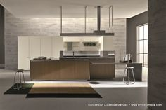 Living Space & Partners offer latest collection of contemporary, modern and luxurious Italian designer furniture in London. Shaker Style Kitchen Cabinets, Kitchen Icon, Shaker Style Kitchens, Kitchen Cabinet Styles, Kitchen Units, Kitchen Styling, Kitchen Island, Room Interior Design, Kitchen Interior