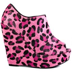 Iron Fist Pink Friday Platform Wedge - Pink ($75) ❤ liked on Polyvore