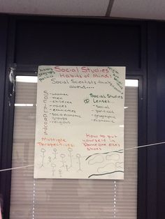 Social Studies chart from TC workshop