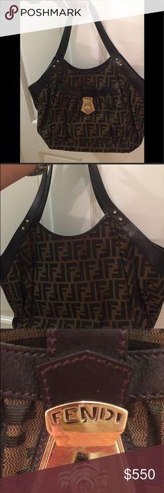 394aeb2b0c1 🎄🎄AUTHENTIC FENDI ZUCCA BAG🎄🎄 Beautiful Fendi bag Canvas and leather in  New