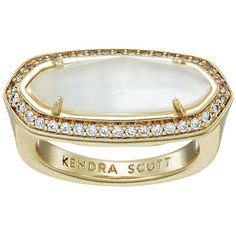 Kendra Scott Arielle Ring (Gold/Ivory Mother-of-Pearl) Ring ($70) ❤ liked on Polyvore featuring jewelry, rings, ivory ring, 14 karat gold jewelry, 14 karat gold ring, kendra scott and 14k ring