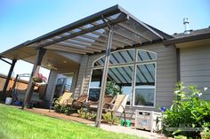 Aluminum framed patio covers allow home owners to enjoy their back yard year-round, no matter what the weather is like! http://www.ricksfencing.com/aluminum-covers.htm