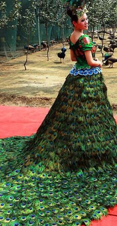 #Peacock Gown - #LuxurydotCom