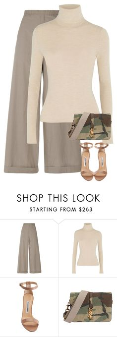 """Untitled #341"" by nelafashion ❤ liked on Polyvore featuring Humanoid, Alice + Olivia, Manolo Blahnik and Yves Saint Laurent"