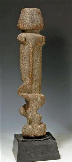 An African Dogon Wood Tellem Figure, from Mail