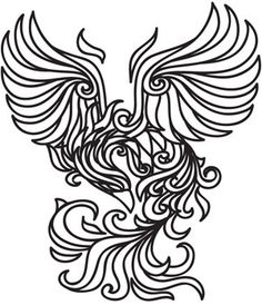 Phoenix rising drawing color google search temporary for Temporary tattoo tracing paper