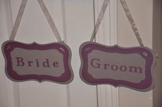 Double sided Bride/Groom and Thank/You signed for photos and weddings available at https://www.facebook.com/ajs.craft.creations