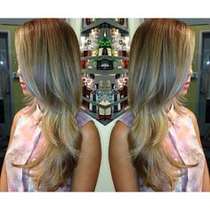 light ash brown and a high ombre. Toned to a beige blonde.
