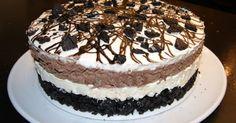 Her kommer Oreokake-oppskriften på kaken jeg laget til Stavern-treffet:  Handleliste: 3 pakker Oreo Cookies 100 g smør (smelte... Pudding Desserts, Oreo Cookies, Tiramisu, Goodies, Food And Drink, Sweets, Cakes, Baking, Fruit