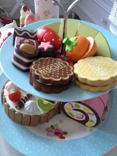 Play food, wooden toy food.