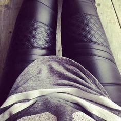 Skinny and Quilted Leather Pants