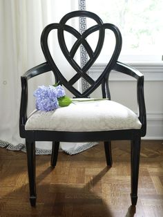 This distressed black finish has a soft sophistication that's always at home.
