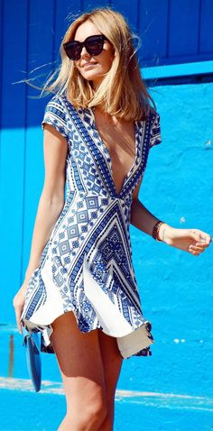 love this cute blue summer dress@ #fashion #style #summertime #dresses #vacation