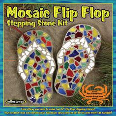 Kids' Mosaic Kits - Midwest Products Mosaic Flip Flop Stepping Stone Kit ** To view further for this item, visit the image link. Mosaic Crafts, Mosaic Projects, Art Projects, Garden Projects, Mosaic Kits, Mosaic Ideas, Mosaic Designs, Mosaic Patterns, Mosaic Stepping Stones