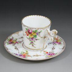 ドレスデン・バタフライハンドルのカップ&ソーサー(送料込み) - 英国アンティークス❤❤❤