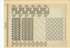 Drawing board of romanian traditional sewing motif.