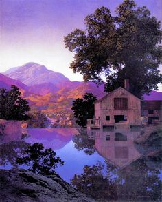 """Mill Pond"", 1945 ~ by Maxfield Parrish (1870-1966)"