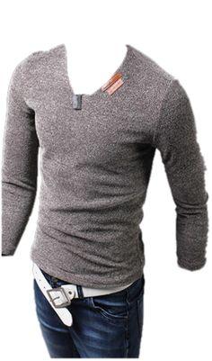 QualityUC Mens American Clothes Fashion Pullover V Neck Shirt