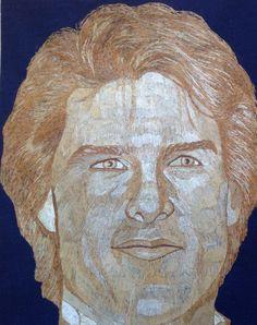 Tom Cruz portrait handmade with rice straw dried by museumshop