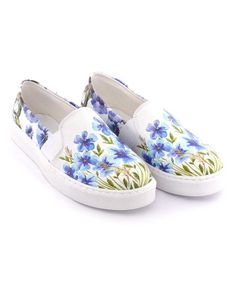 2c8b8f18906 Streetfly Blue Floral Slip-On Sneaker - Women