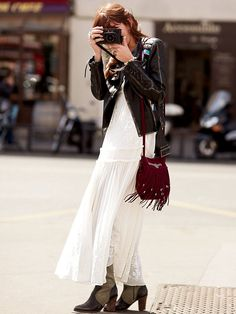 Free People White Romance Embroidered Maxi,