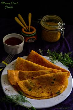 Paneer Stuffed Moong Daal Cheela- Yellow Lentil pancakes stuffed with mildly spiced cottage cheese mixture