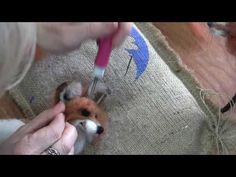 How to Needle Felt Animals - Fox Series Ears by Sarafina Fiber Art Needle Felting Supplies, Needle Felting Tutorials, Fox Crafts, Felt Fox, Felt Birds, Needle Felted Animals, Wet Felting, Felt Dolls, Fox Series
