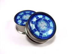 Arc Reactor Plugs I don't think I'd ever stretch my ears but if I did I would have to have these