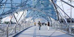 3840x1967 helix bridge 4k hi res wallpaper free