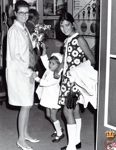 graceandfamily:  Princess Grace with her daughters Stephanie and Caroline.