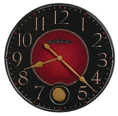 Howard Miller Harmon Gallery Wall Clock - This unique 26 gallery wall clock features a Moment in Time antique dial framed in wrought iron, with a pendulum peep hole.