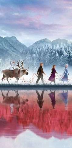 Frozen 2 continues Frozen which was released six years ago and won 2 Oscars for the Best Animated Film and Best Theme Song. Frozen 2 is still overshad. Disney Kunst, Disney Art, Disney Movies, Punk Disney, Disney Characters, Frozen 2 Wallpaper, Disney Phone Wallpaper, Frozen Movie, Disney Frozen Elsa