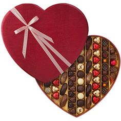 Make an impression with our Ultimate Luxury Heart! Our largest red leather heart box is filled with 80 of the most delicious Neuhaus Belgian chocolates.