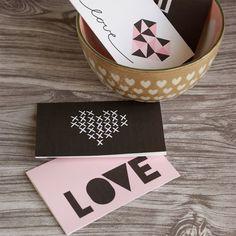 Printable Modern Valentine's Cards
