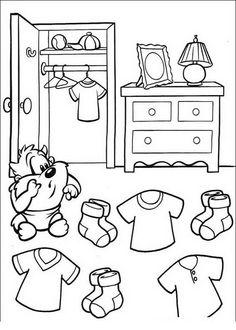 Baby Looney Tunes Målarbilder för barn. Teckningar online till skriv ut. Nº 43