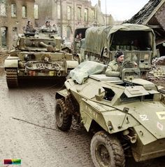 "British tank ""Сomet"" and the armored car ""Humber"""