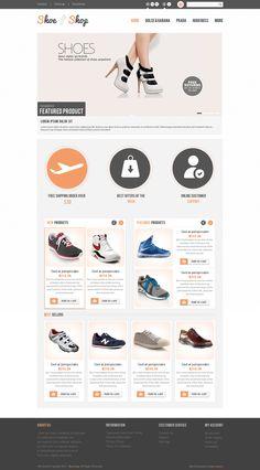 Free Shoe Shop PSD Template