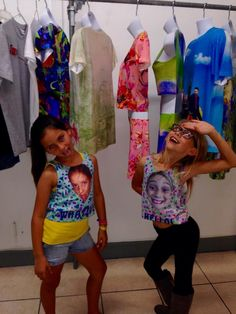 Lily & Lailee sporting their new tank designs. #takeyourdaughtertoworkday