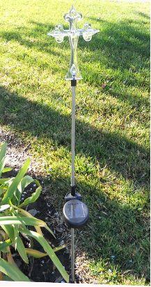 Add these 2 cross solar lights in floral arrangements for funerals, cemetery, roadside memorials or in your garden. http://www.mysolarshop.com/cross-solar-lights-spc2187