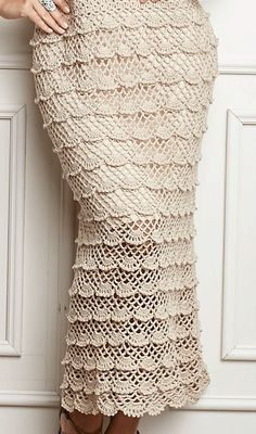 Fabulous Crochet a Little Black Crochet Dress Ideas. Georgeous Crochet a Little Black Crochet Dress Ideas. Crochet Skirt Pattern, Crochet Skirts, Granny Square Crochet Pattern, Knit Skirt, Crochet Shawl, Crochet Clothes, Crochet Lace, Crochet Patterns, Crochet Wedding Dresses