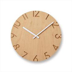 LEMNOS(レムノス)掛け時計CARVEDWOODBIRCHカーヴドウッドバーチφ240xD42mm(NTL16-04)8640円