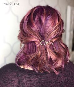 Nov 2018 - Colours of the Rainbow. See more ideas about Hair, Dyed hair and Hair styles. Rose Gold Hair, Purple Hair, Pastel Hair, Love Hair, Gorgeous Hair, Pulp Riot Hair Color, Bright Hair, Dye My Hair, Funky Hairstyles