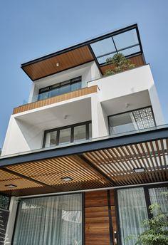House Architecture Styles, Architecture Building Design, Facade Design, Minimal House Design, Modern Minimalist House, Small Villa, Apartment View, Home Design Decor, Industrial House